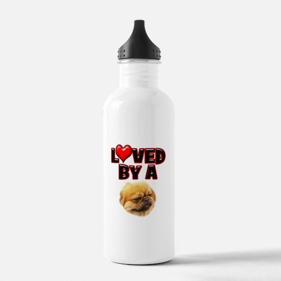 Loved by a Pekingnese Water Bottle