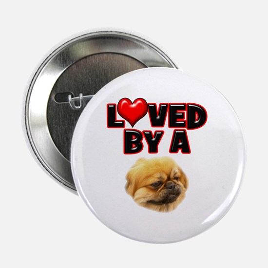 """Loved by a Pekingnese 2.25"""" Button"""