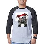 Christmas Horses In Love Mens Baseball Tee