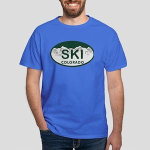 Ski Colo License Plate Dark T-Shirt