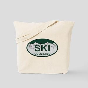 Ski Colo License Plate Tote Bag