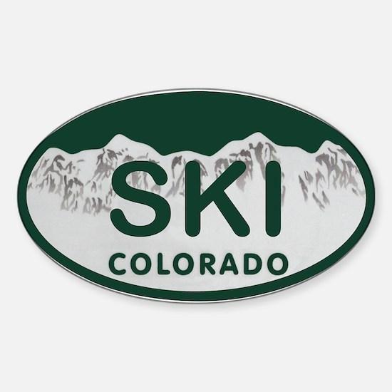Ski Colo License Plate Sticker (Oval)