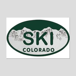 Ski Colo License Plate Mini Poster Print