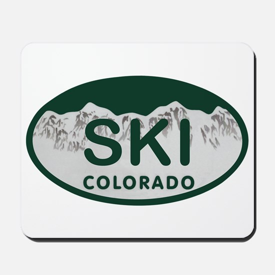Ski Colo License Plate Mousepad