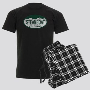 Steamboat Colo License Plate Men's Dark Pajamas