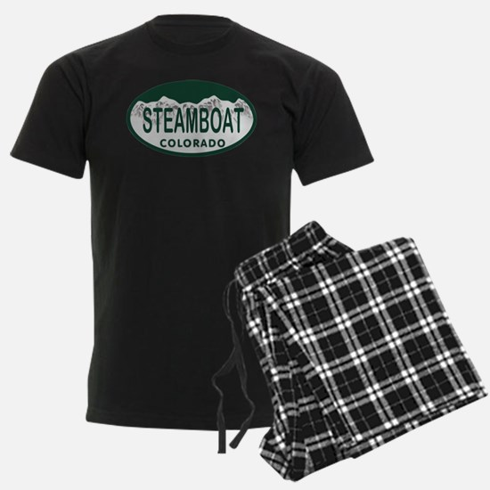Steamboat Colo License Plate Pajamas