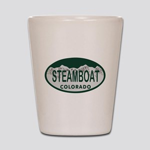 Steamboat Colo License Plate Shot Glass
