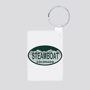 Steamboat Colo License Plate Aluminum Photo Keycha