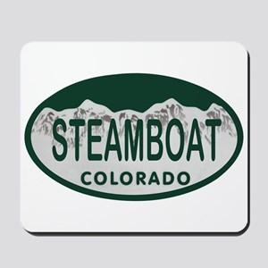 Steamboat Colo License Plate Mousepad