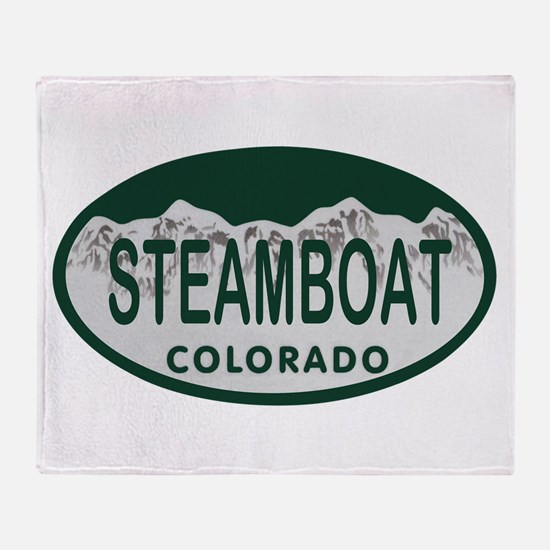 Steamboat Colo License Plate Throw Blanket