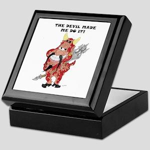 The Devil made me do it! Keepsake Box