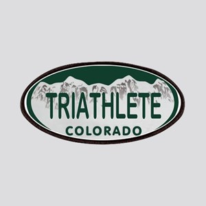 Triathlete Oval Colo License Plate Patches