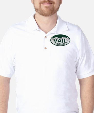 Vail Colo License Plate Golf Shirt