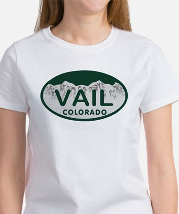 Vail Colo License Plate Women's T-Shirt