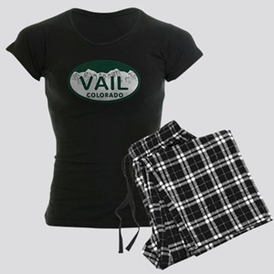 Vail Colo License Plate Women's Dark Pajamas