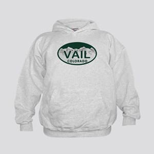 Vail Colo License Plate Kids Hoodie