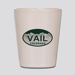 Vail Colo License Plate Shot Glass