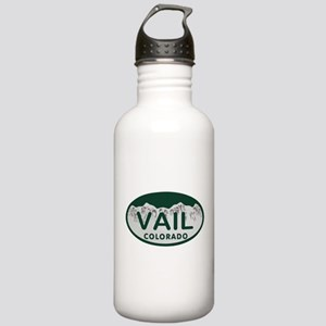 Vail Colo License Plate Stainless Water Bottle 1.0