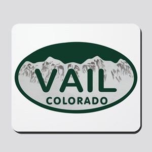 Vail Colo License Plate Mousepad