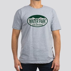 Winterpark Colo License Plate Men's Fitted T-Shirt