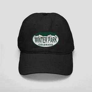 Winterpark Colo License Plate Black Cap