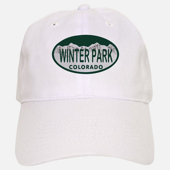 Winterpark Colo License Plate Baseball Baseball Cap
