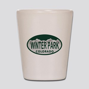 Winterpark Colo License Plate Shot Glass