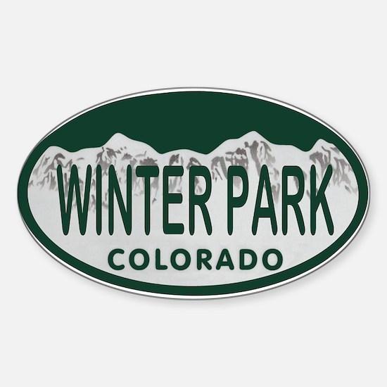 Winterpark Colo License Plate Sticker (Oval)