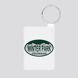 Winterpark Colo License Plate Aluminum Photo Keych