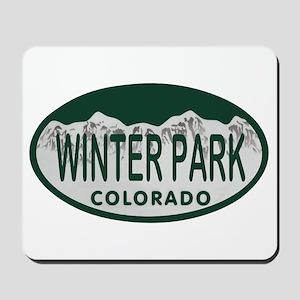 Winterpark Colo License Plate Mousepad