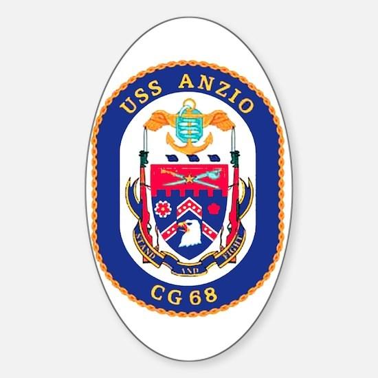 USS Anzio CG 68 Oval Decal