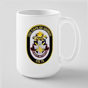 USS Cape St. George CG 71 Large Mug