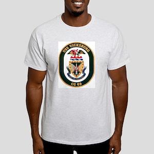 USS Vicksburg CG 69 Ash Grey T-Shirt