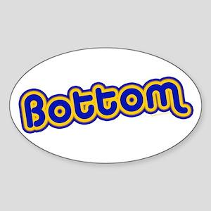 Bottom Oval Sticker