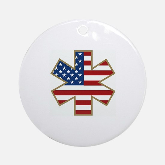USA Star of Life Ornament (Round)
