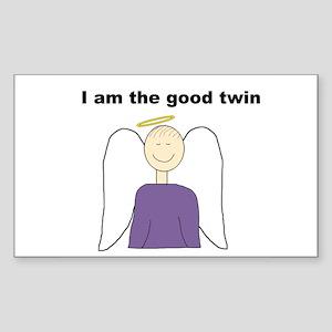 Good Twin Rectangle Sticker
