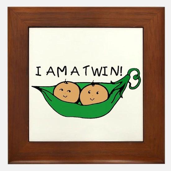 I AM A TWIN Framed Tile