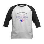 USA Lawless States Of America Kids Baseball Jersey