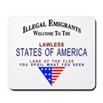 USA Lawless States Of America Mousepad