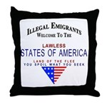 USA Lawless States Of America Throw Pillow