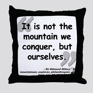 Hillary Conquer Quote Throw Pillow