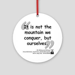 Hillary Conquer Quote Ornament (Round)