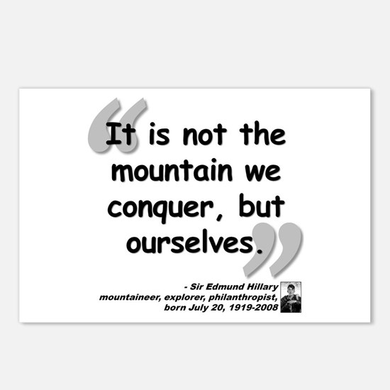 Hillary Conquer Quote Postcards (Package of 8)