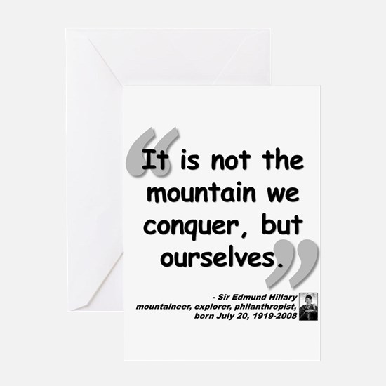 Hillary Conquer Quote Greeting Card