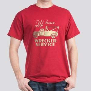 Retro Wrecking Truck Dark T-Shirt