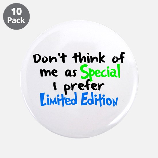 """Limited Edition Green/Blue 3.5"""" Button (10 pack)"""