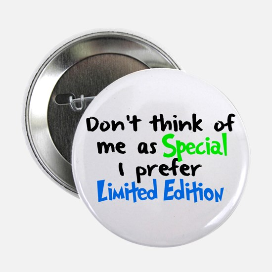 """Limited Edition Green/Blue 2.25"""" Button"""