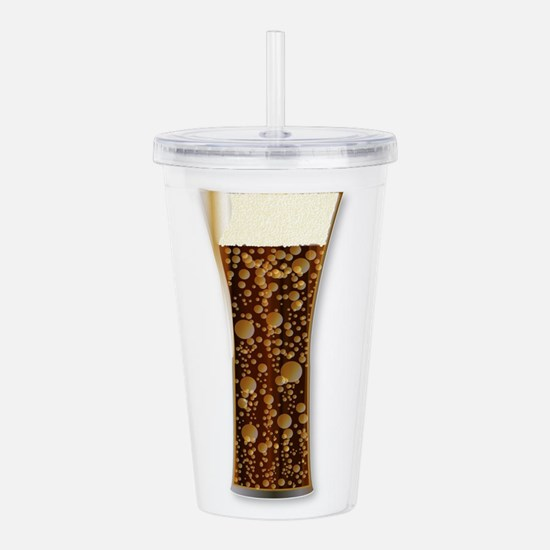 Curved Cola Glass Acrylic Double-wall Tumbler