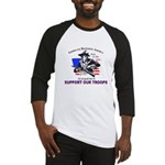 SUPPORT OUR TROOPS Baseball Jersey