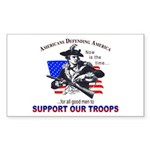 SUPPORT OUR TROOPS Rectangle Sticker